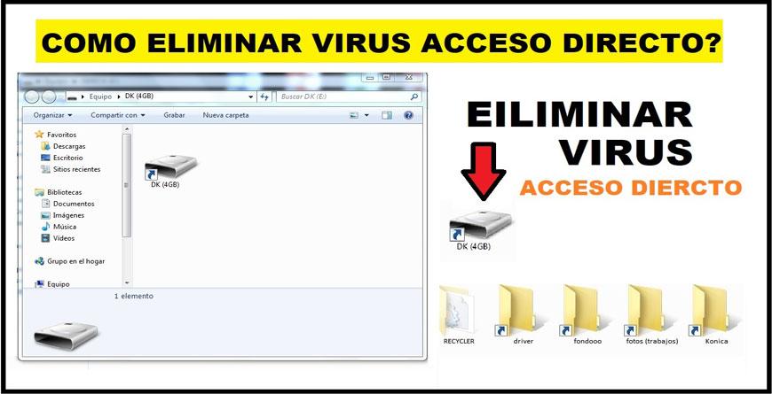 ¿Como eliminar virus acceso directo de una usb sin perder información?